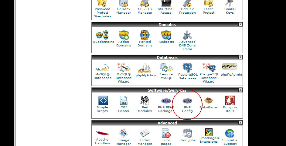 how to create php ini file in cpanel
