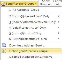 Outlook 2010 Define Send/Receive Groups