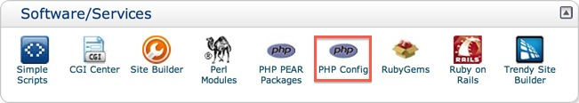 cPanel PHP Config